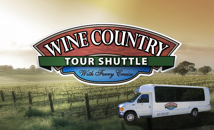 Wine Country Tour Shuttle standard Logo design